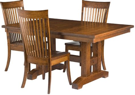 trestle table and chairs trestle dining room table erik organic
