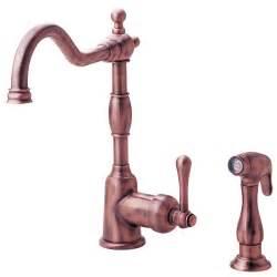 copper faucets kitchen danze faucets danze 1 handle kitchen sink faucet d404214ac antique copper opulence series