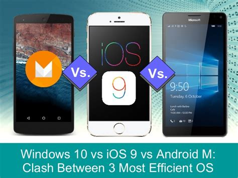 most current android os windows 10 vs ios 9 vs android m clash between 3 most