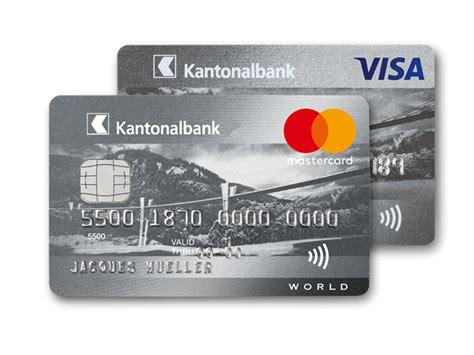 kantonalbank kreditkarte bestellen die zu ihnen passt