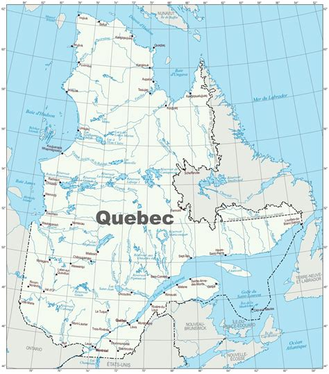 road map  quebec province  travel information
