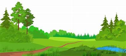 Clipart Ground Pasture Clip Transparent Meadow Forest