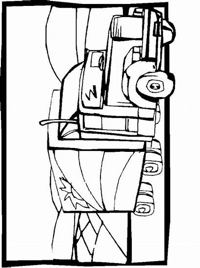 Coloring Pages Truck Semi Transportation Trucks Sheets