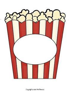 Popcorn Container Template by Clipart Popcorn Clipart Best