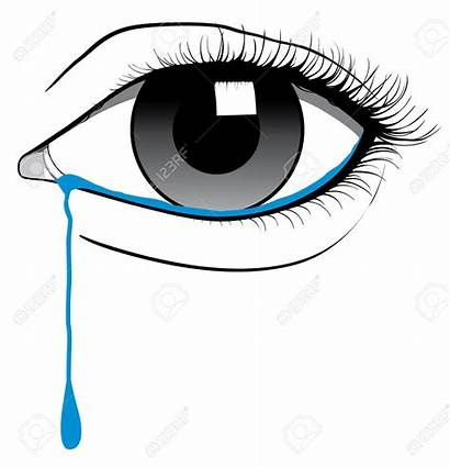 Eye Tears Crying Clipart Sad Cry Eyes