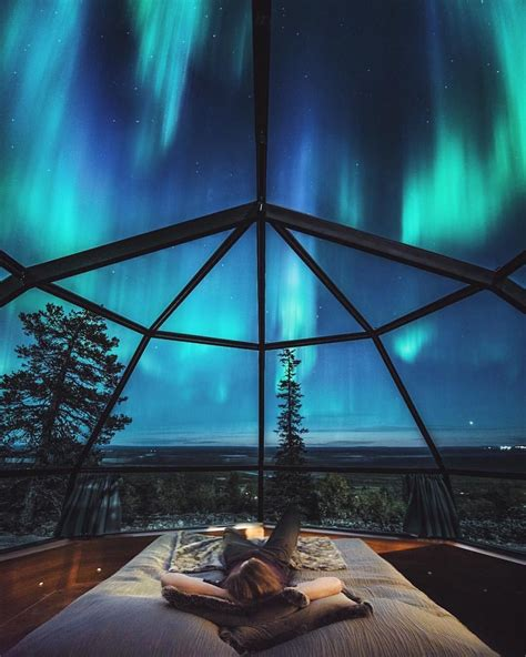 Northern Lights Igloo by Levin Iglut Lapland Finland Travel In 2019 Lapland