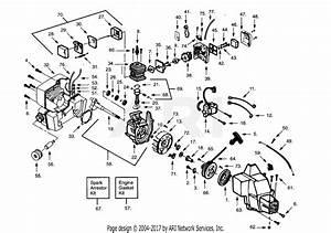 Poulan Prolite Gas Trimmer Parts Diagram For Power Unit