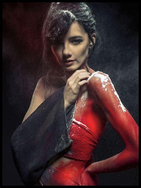 hot fashion model photography inspiration  holi