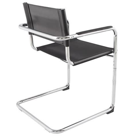chaise design metal noir chaise design tahiti en simili cuir résistant et métal