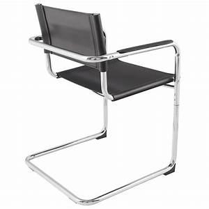Chaise de bureau design TAHITI (noir)