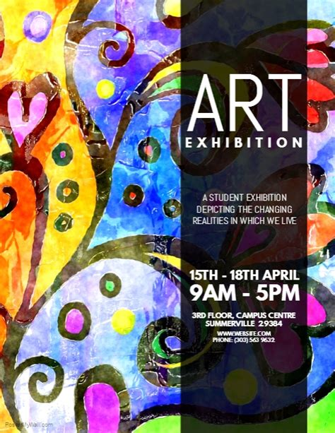 copy  art exhibition flyer postermywall