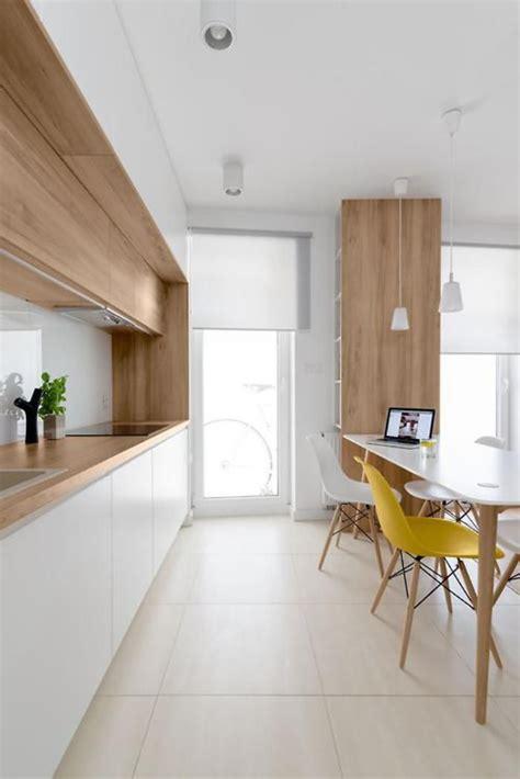 chaise de plan de travail la cuisine blanche et bois en 102 photos inspirantes