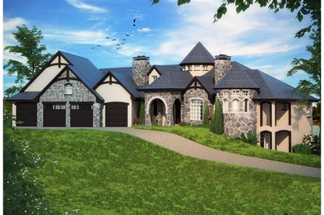 bedrm  sq ft tudor house plan