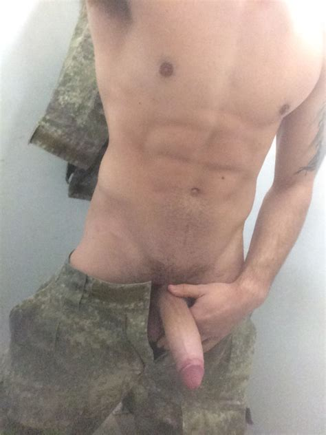 Fit marine showing his big thick cock in barracks locker room | My Own Private Locker Room