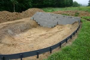 Construire Un Bassin De Jardin En Parpaing by Bassin Jardin Construction De Notre Maison