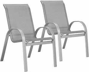 Gartenstühle Alu Stapelbar : gartenstuhl amalfi 2er set alu textiles gewebe stapelbar online kaufen otto ~ Watch28wear.com Haus und Dekorationen