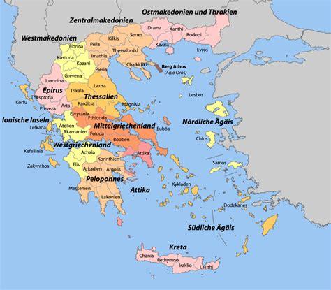 Griechenland Antike Karte