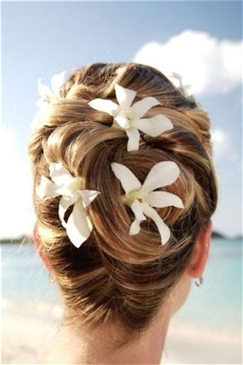 fantastic beach wedding hairstyles  flower