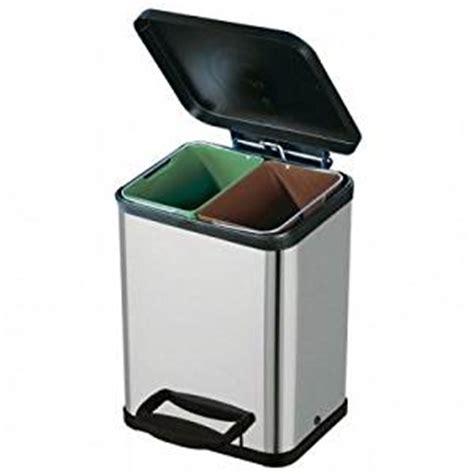 poubelle cuisine tri selectif 3 bacs poubelle tri sélectif 2 bacs inox amazon fr cuisine maison