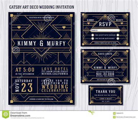 stock photo great gatsby art deco wedding invitation