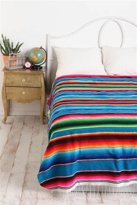 Sarape Bedspread Blanket Mexican Bedroom Bed Spreads