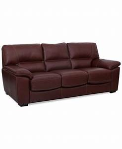 bolivar leather queen sleeper sofa only at macy39s With macys leather sectional sleeper sofa