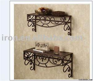 wall iron shelf wall iron shelf manufacturers in lulusoso With kitchen cabinets lowes with iron scroll wall art