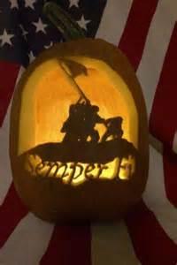 Marine Corps Pumpkin Carving
