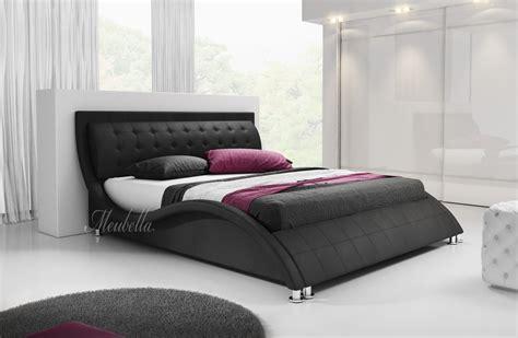 twee persoons bed tweepersoonsbed sumoya zwart 180x200 cm meubella