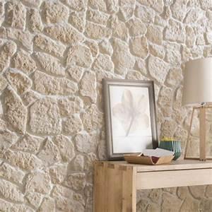 plaquette de parement platre creme luberon leroy merlin With plaque pour mur interieur