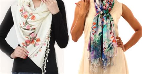 Scarf Draping Styles - 5 remarkable styles of draping a scarf or a stole iurrda