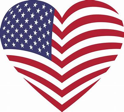 Flag Clip American Clipart Heart Flags America