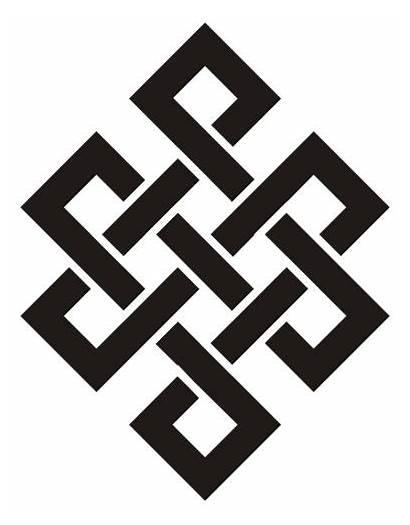 Knot Endless Tattoo Eternal Symbol Karma Buddhist