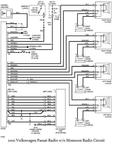 2001 volkswagen passat radio wiring diagram circuit diagram