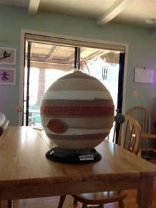 Jupiter! Planet project using yarn | Science fair ideas ...