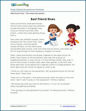 friend blues grade  childrens story  learning