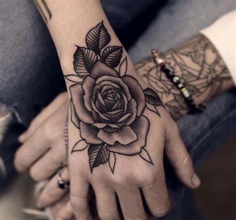 ideas  rose hand tattoo  pinterest hand