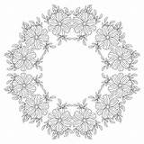 Mandala Svg Rectangle Coloring Adult sketch template