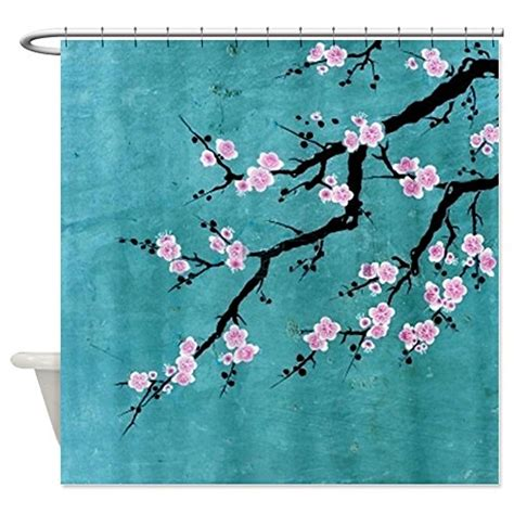 Cherry Blossom Curtain Material by Cherry Blossom Shower Curtain