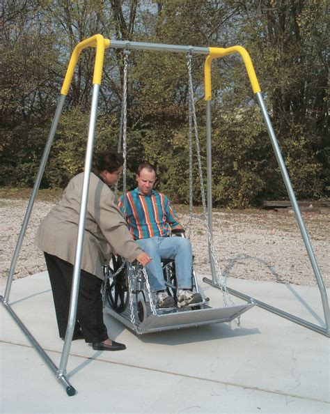 handicap swing sportsplay equipment wheelchair swing platform with