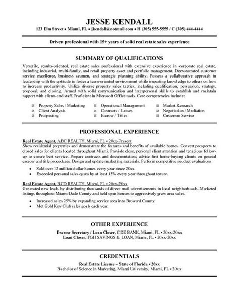 Real Estate Resume by Real Estate Resume Exle Tammys Resume