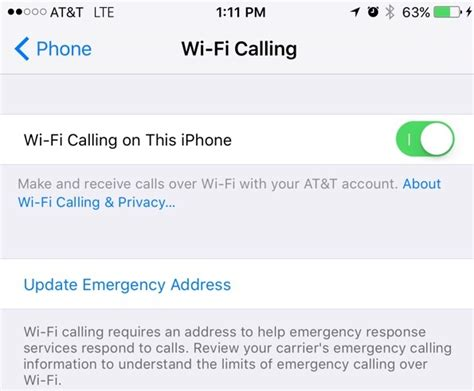 at t wifi calling iphone ios 9 beta 5 introduces at t wifi calling on iphone