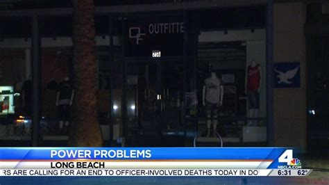 power outages plague long beach   day nbc
