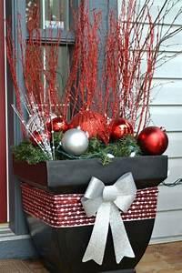 Weihnachtsdeko Für Geschäfte : weihnachtsdeko f r au en eingang blumentopf weihnachtskugeln stilvoll festlich hauseingang ~ Sanjose-hotels-ca.com Haus und Dekorationen