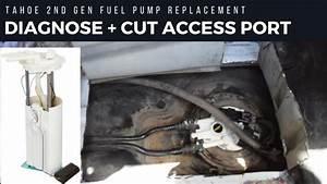 How To Cut A Fuel Pump Access Door  2nd Gen Tahoe  Yukon