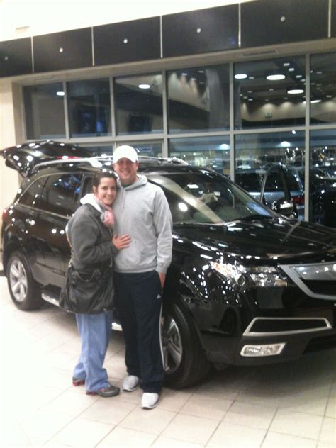 mr mrs gentilcore with their 2013 acura mdx 2013 new