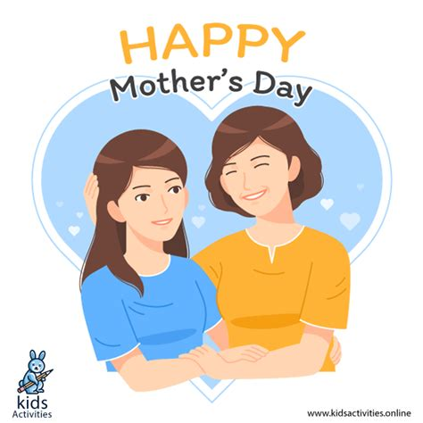 cartoon happy mothers day images greeting card kids