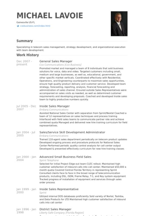 Resume Of Sales Manager In Telecom by Vertriebsleiter Cv Beispiel Visualcv Lebenslauf Muster Datenbank