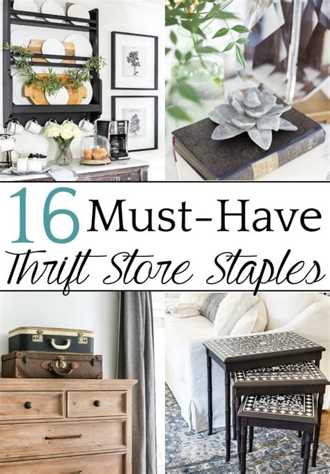 16 Must Have Home Decor Thrift Store Staples  Bless'er House