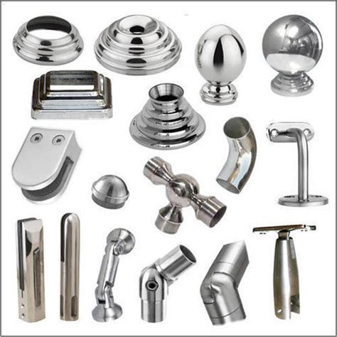 fitting banisters stainless steel railing fitting at rs 45 number railing